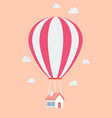 balloon house vector image