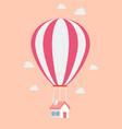 balloon house vector image vector image