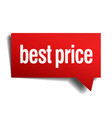 best price red 3d realistic paper speech bubble vector image vector image