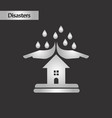 black and white style nature hand house rain vector image vector image
