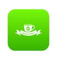 brazil coffee icon green vector image vector image