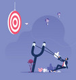 businessman aiming like icon to target vector image