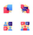 buzz marketing line icons set vector image vector image