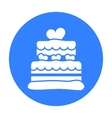Cake icon in black style for web vector image vector image