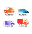 cargo delivery services logo design delivery vector image