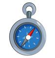 cartoon image of compass icon architecture symbol vector image