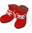 christmas cartoon red boots isolated on white vector image vector image