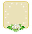 Christmas decoration frame with white flowers and vector image vector image