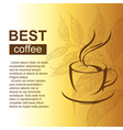 coffe cup with coffee brunch vector image vector image