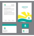 Corporate identity template Tourism vector image vector image