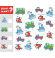 counting game for children count how many vector image vector image