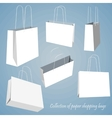 Creative concept set of empty shopping bag vector image