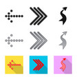 design of element and arrow logo vector image vector image
