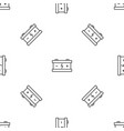 eco car battery pattern seamless vector image vector image