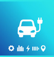 electric car ev clean transport icon vector image vector image