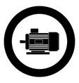 electric motor icon black color in circle vector image vector image