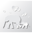 Elephants Mom and Son Love and Caring vector image vector image