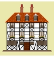 fachwerk house traditional cottage isolated vector image