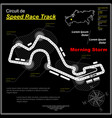 fast pursuit circuit black vector image vector image