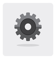 flat icon gear wheel vector image vector image