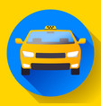 flat taxi car icon flat design vector image vector image