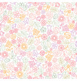 flower icon seamless pattern floral leaves vector image vector image