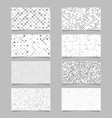 geometrical card background set - template designs vector image vector image