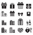 gift box present icons vector image