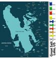 great salt lake in utah state us vector image