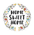 Home sweet home lettering handwritten sign hand