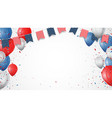 independence day of america with confetti vector image vector image
