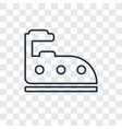 iron cleanin concept linear icon isolated on vector image