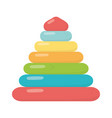 kids toys pyramid cartoon isolated icon design vector image vector image