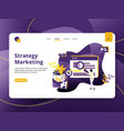 landing page strategy marketing modern style vector image