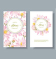 lotus flower banners vector image vector image