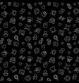love outline dark seamless pattern vector image vector image