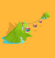 maokong mountain cableway in taiwan graphic icon vector image vector image