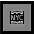 new york city typography design for t-shirt vector image vector image