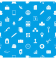 office work theme simple icons blue and white vector image