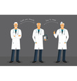 Old doctor in various poses vector image vector image