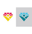 people diamond logo vector image vector image