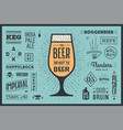 poster to beer or not to beer vector image vector image