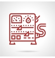 Power supply equipment line icon vector image vector image