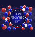 presidents day greeting card the inscription vector image vector image