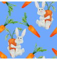 Rabbit seamless vector image vector image