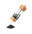 realistic 3d detailed glass pepper mill with vector image vector image