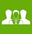 recruitment icon green vector image vector image