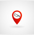 red location icon for butcher eps file vector image