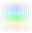 roulette shape halftone spectral pattern vector image