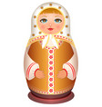 russian girl wooden doll traditional national toy vector image